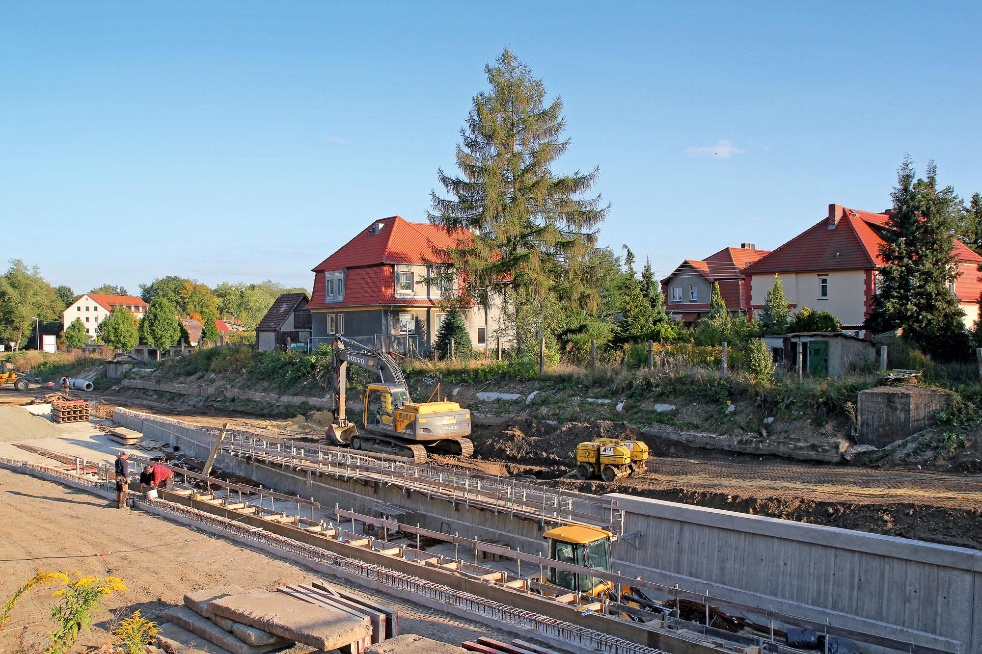 S 50 Deutzen Bahnunterführung – Trogbauwerk