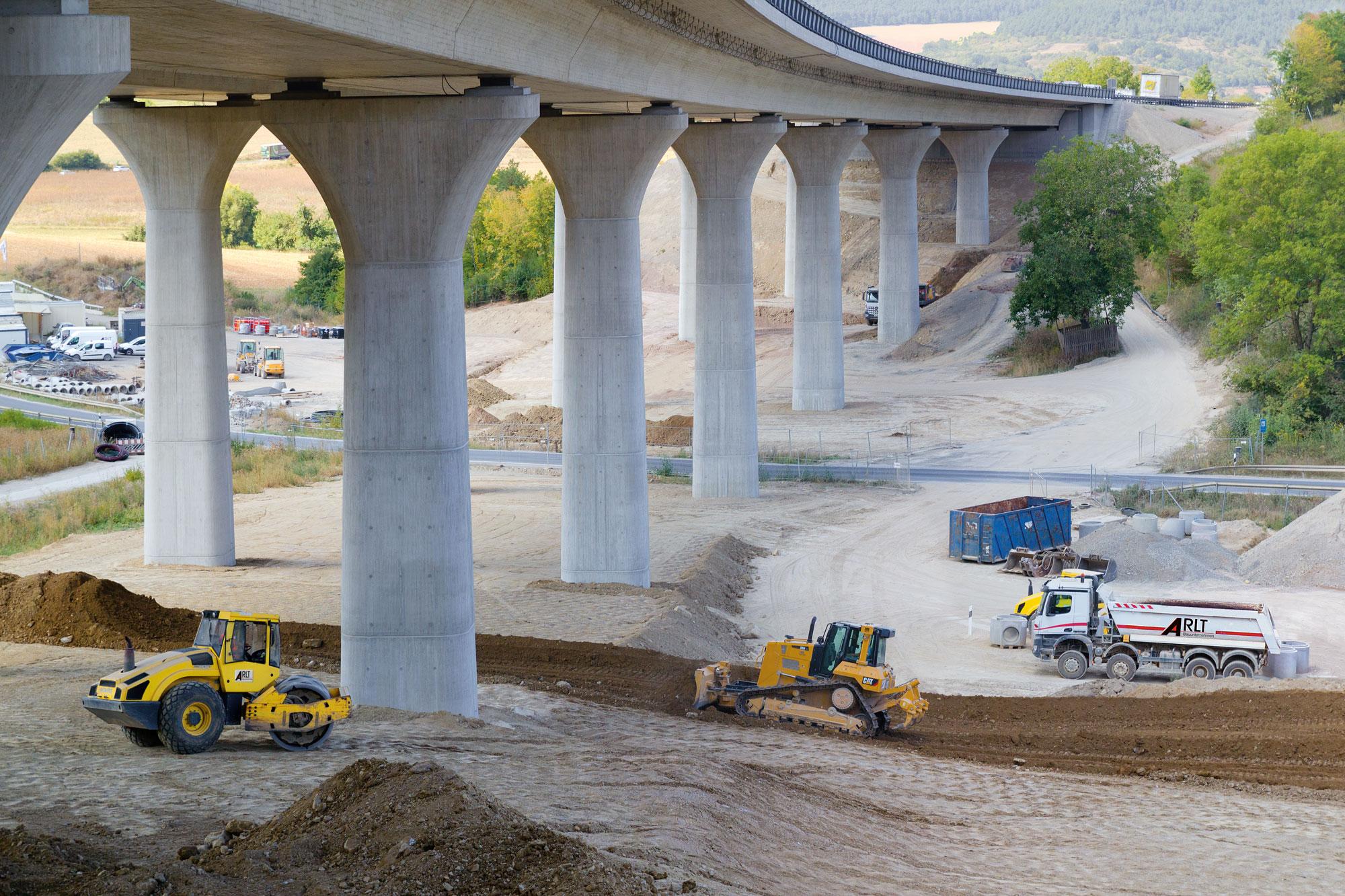 BAB A7 BW622a Talbrücke Klöffelsberg · Geländeprofilierung