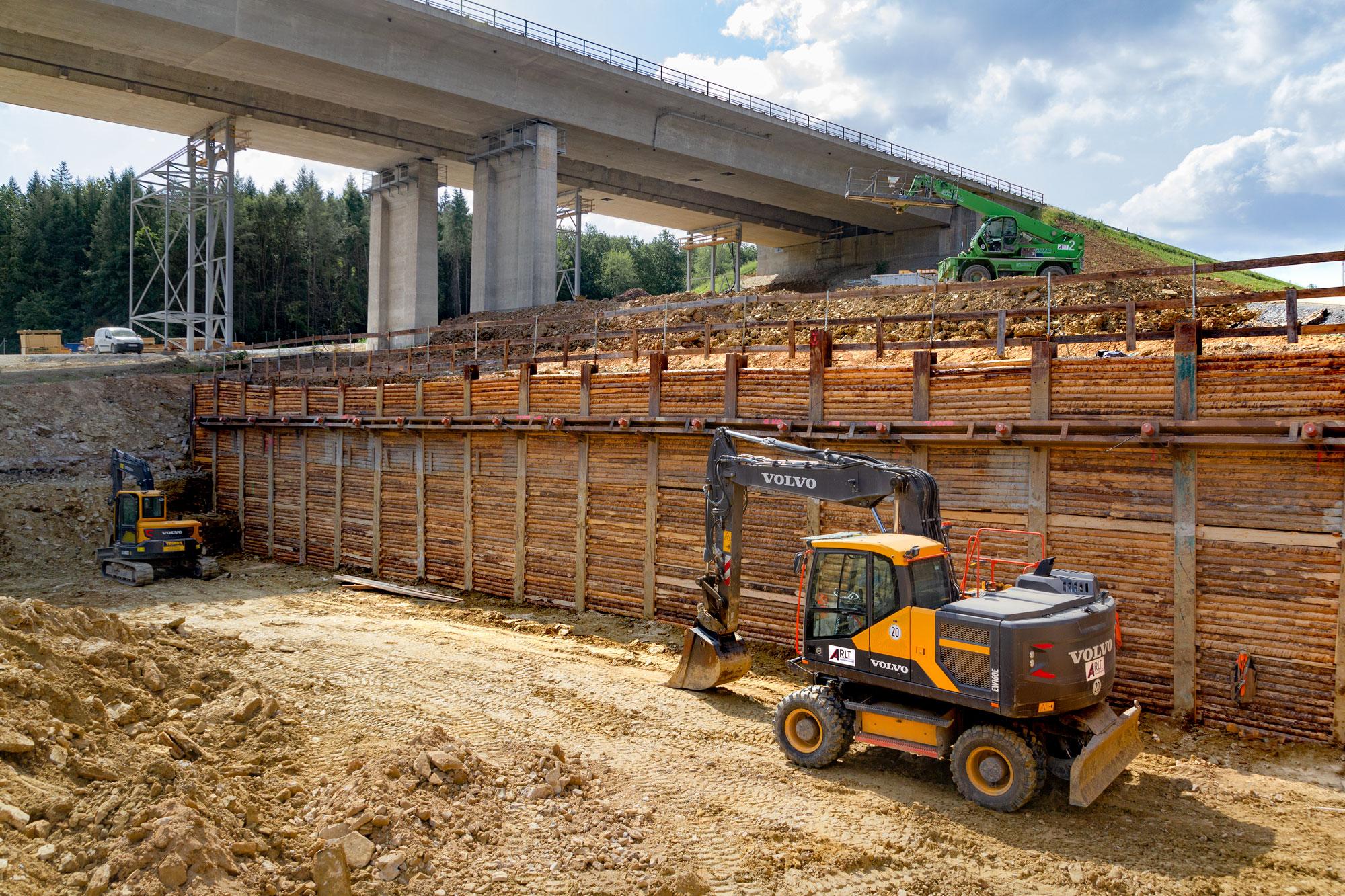 BAB A7 BW645a Talbrücke Werntal, Verbau RRB